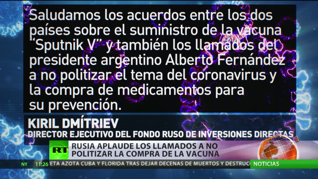 Argentina recibirá la vacuna rusa contra el covid-19 Sputnik V y la británica de AstraZeneca