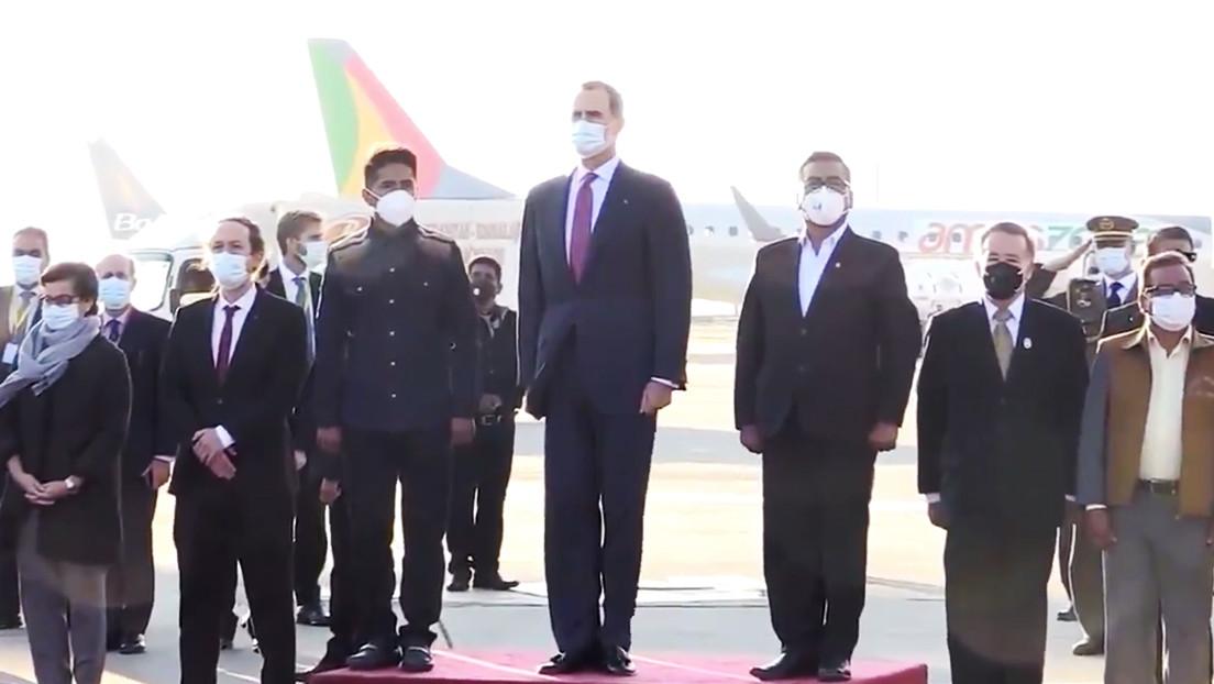 El peculiar himno de España con el que una banda militar de Bolivia recibió a Felipe VI causa furor en la Red (VIDEO)