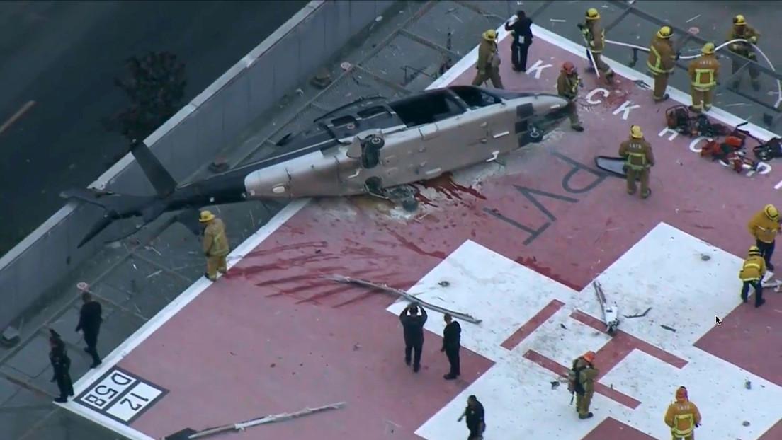 Logran recuperar el corazón que iba a bordo del helicóptero accidentado y un médico lo deja caer tras un tropiezo (VIDEO)