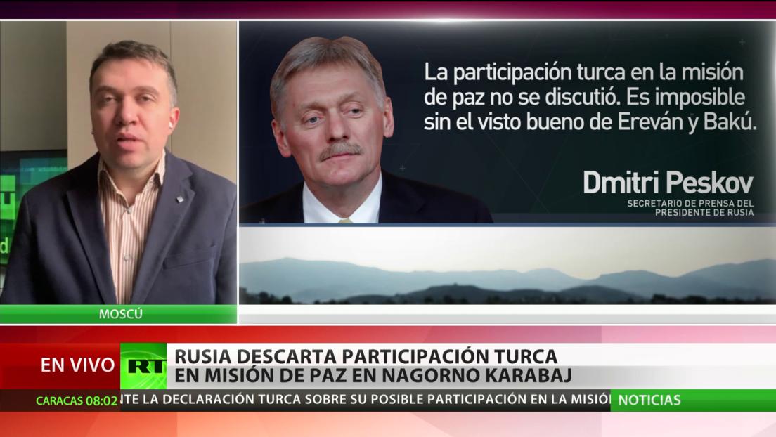 Rusia descarta la participación turca en la misión de paz en Nagorno Karabaj