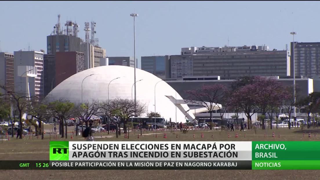 Brasil: Suspenden las elecciones municipales en Macapá por un apagón tras incendiarse una subestación