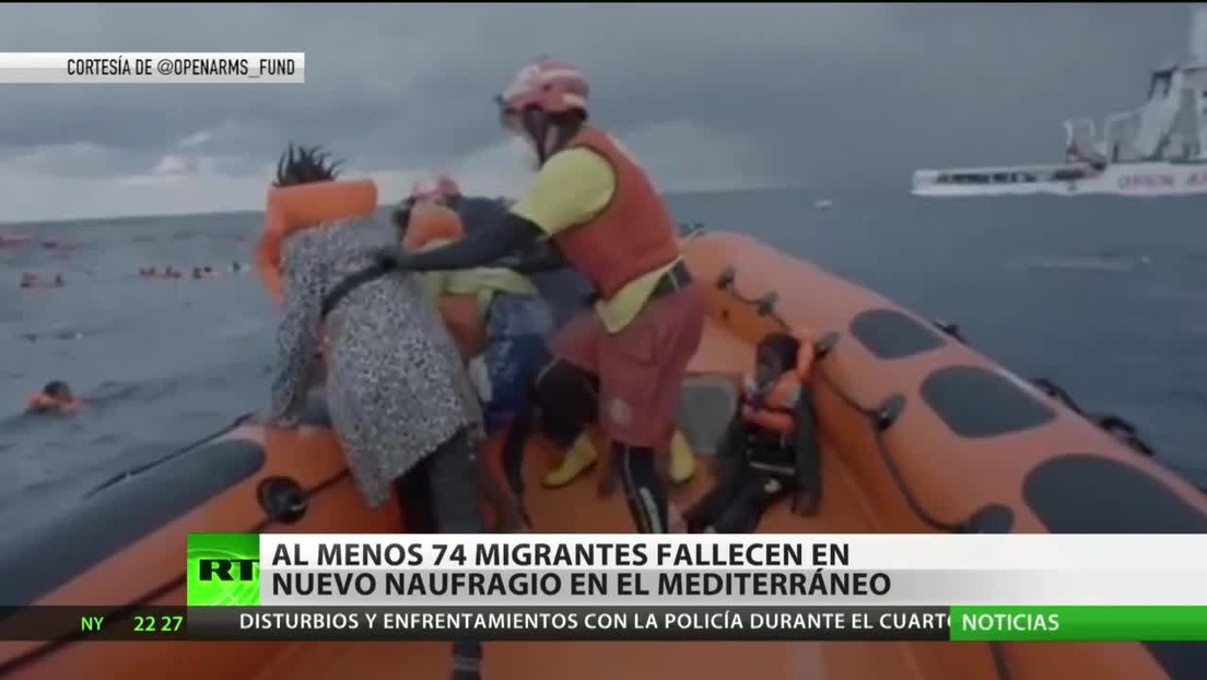 Al menos 74 migrantes fallecen en un nuevo naufragio en el Mediterráneo