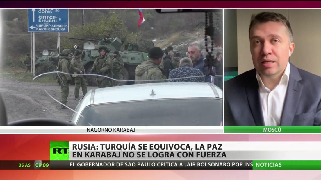 Rusia: Turquía se equivoca, la paz en Nagorno Karabaj no se logra con fuerza