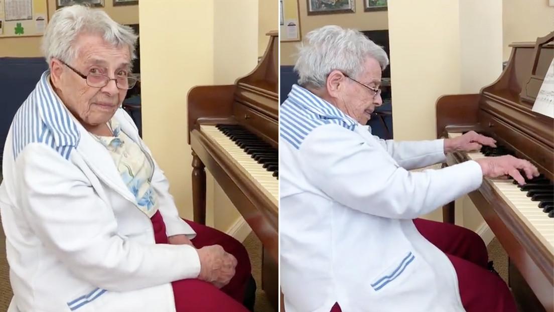 VIDEO: Anciana de 92 años con alzhéimer interpreta para su hija una famosa sonata de piano de Beethoven