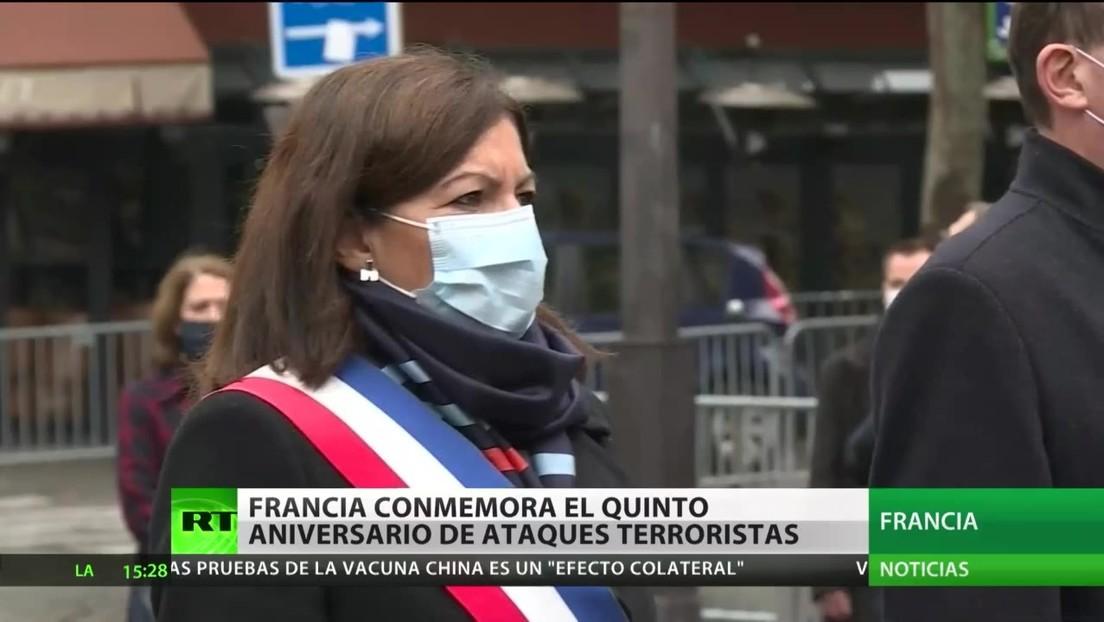 Francia conmemora el quinto aniversario de los atentados terroristas en París