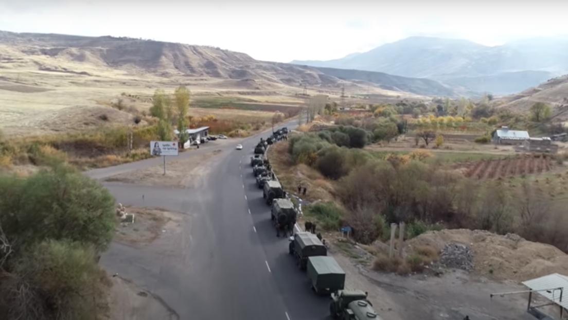 VIDEO: El despliegue de fuerzas rusas de pacificación en Nagorno Karabaj