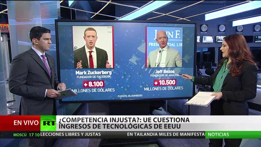 ¿Competencia injusta?: La UE cuestiona los ingresos de tecnológicas de EE.UU.