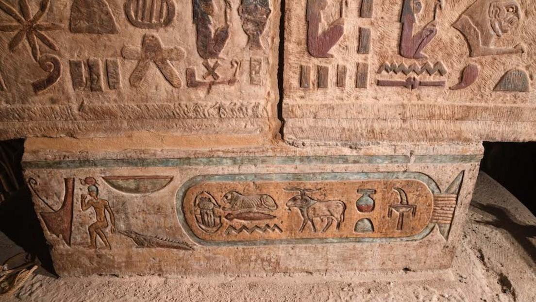 FOTOS: Descubren jeroglíficos con los nombres de las antiguas constelaciones egipcias al restaurar un templo de 2.000 años
