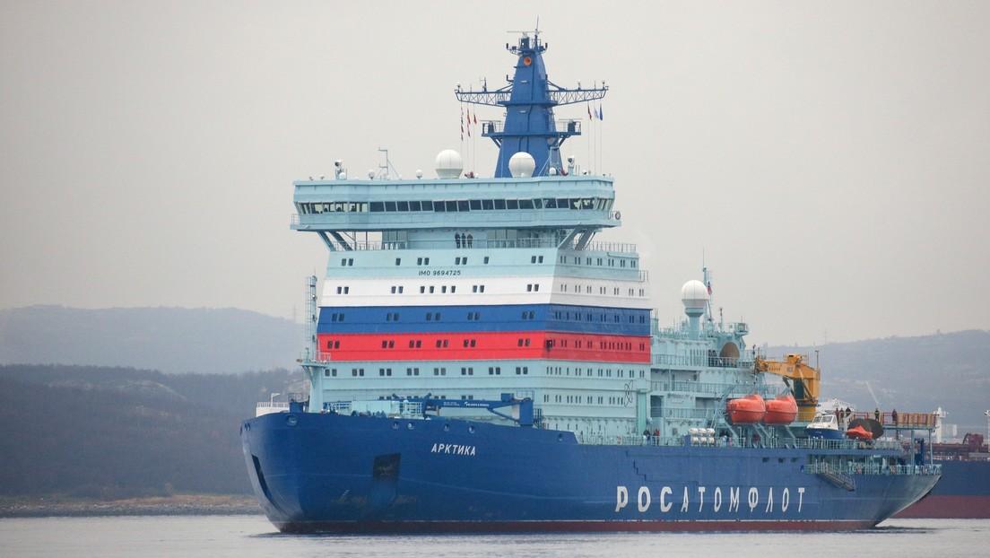 Rusia envía a su primer viaje al rompehielos más potente del mundo