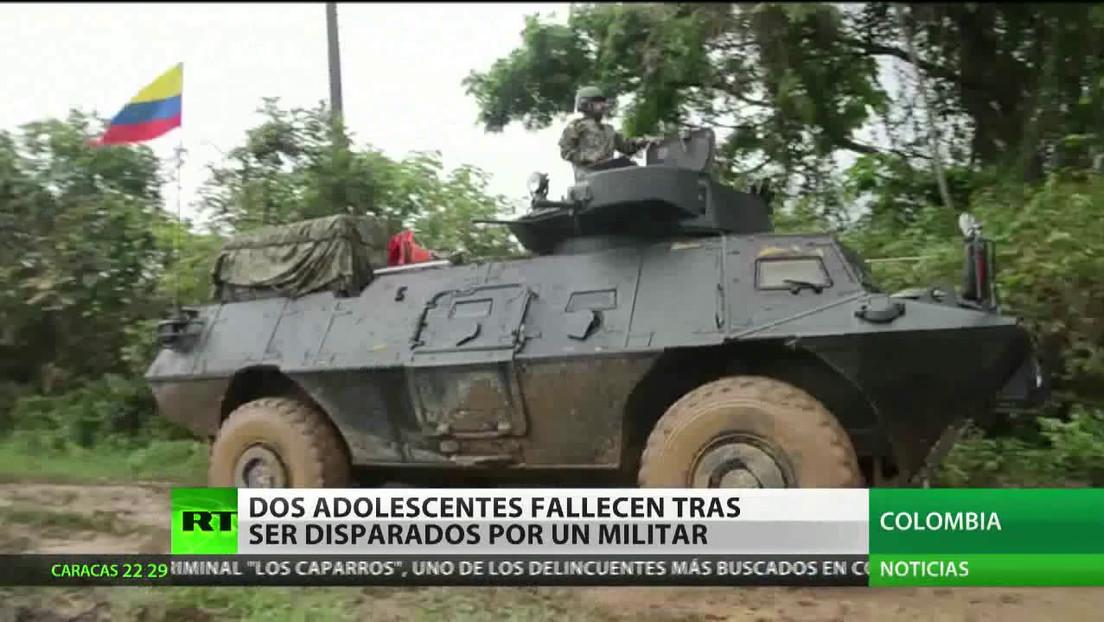 Dos adolescentes mueren en Colombia bajo disparos de un militar