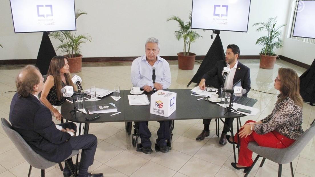 """""""Abran los micrófonos al público"""": A seis meses de dejar el poder, Lenín Moreno estrena su programa radial 'De frente con el presidente'"""