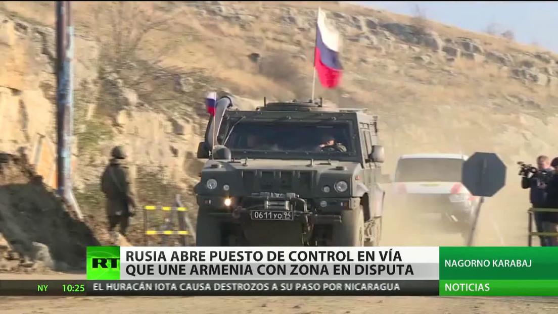 Rusia abre un puesto de control en la vía que une Armenia con la zona en disputa con Azerbaiyán