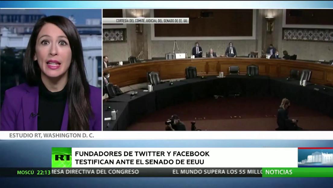 Zuckerberg y Dorsey testifican ante el Senado de EE.UU. sobre la supuesta desinformación en Facebook y Twitter