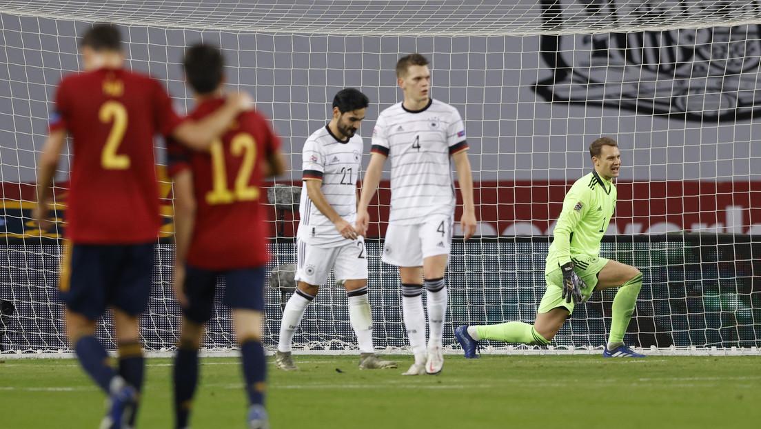 España derrota 6-0 a Alemania en un partido de la Liga de las Naciones de la UEFA