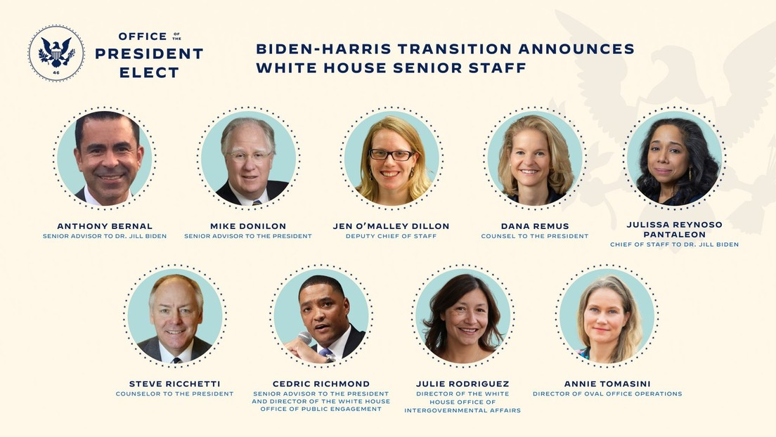 Joe Biden anuncia quiénes serán sus futuros asesores y altos funcionarios en la Casa Blanca