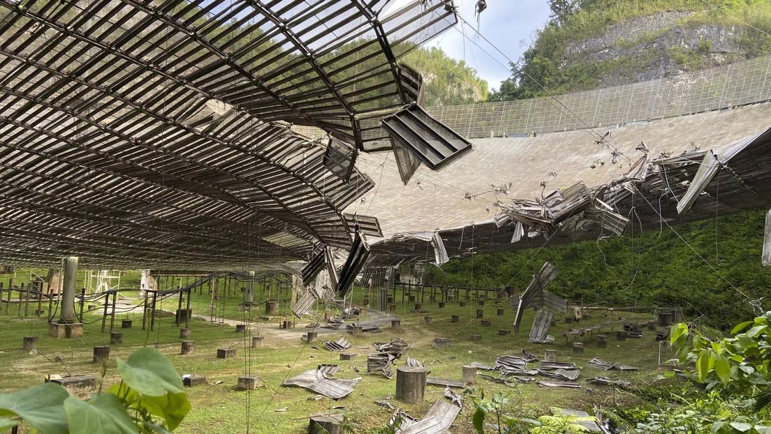 Un importante radiotelescopio de Puerto Rico podría estar al borde del colapso