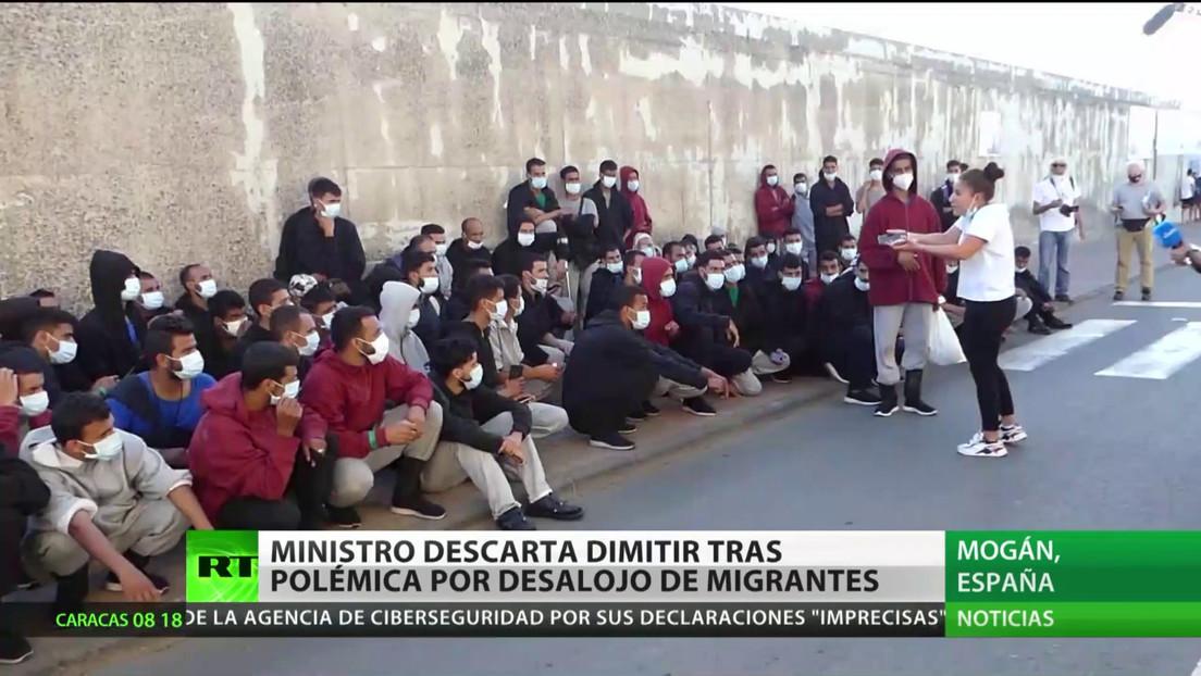 España: El ministro del Interior descarta renunciar tras el escándalo por desalojo de inmigrantes