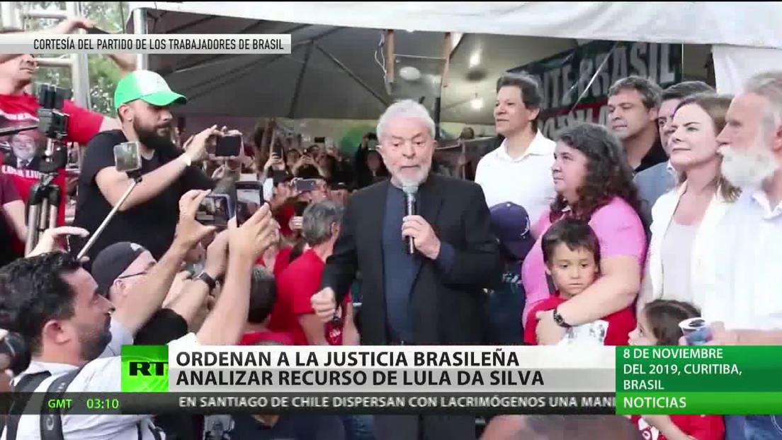 Tribunal Supremo de Brasil ordena analizar el recurso interpuesto por Lula da Silva