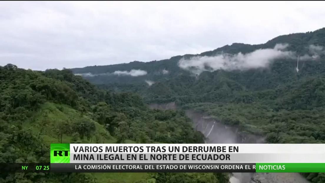 Al menos cinco personas fallecen en el derrumbe de una mina ilegal en Ecuador