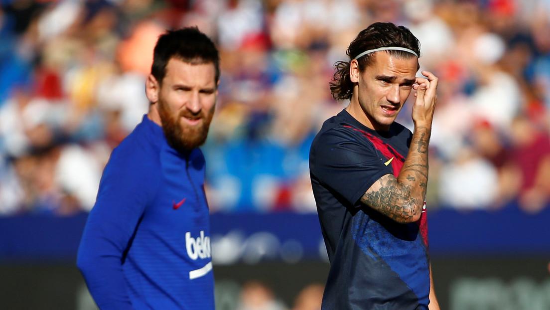 Simpatizantes del F.C. Barcelona increpan a Griezmann a la salida del entrenamiento y le exigen que respete a Messi (VIDEO)