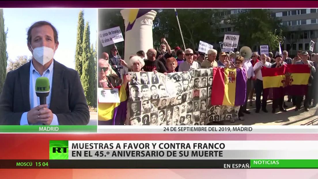 España: Muestras a favor y en contra del dictador Franco en el 45.º aniversario de su muerte