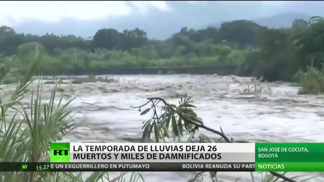 La temporada de lluvias deja 26 muertos y miles de damnificados en Colombia