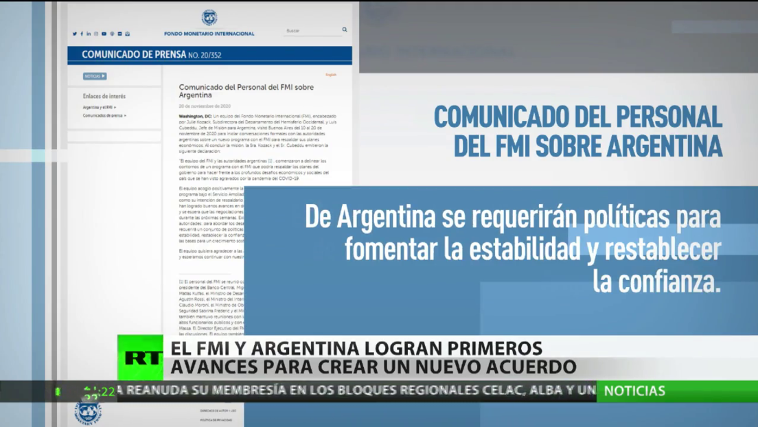 FMI y Argentina logran primeros avances para un nuevo acuerdo