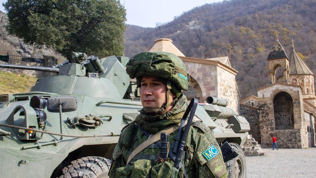 Fuerzas de la paz de Rusia trabajan para proteger el patrimonio cultural en Nagorno Karabaj
