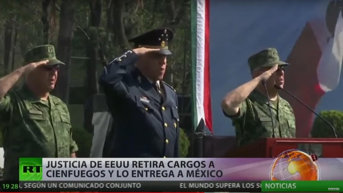 EE.UU. retira los cargos por narcotráfico al exsecretario de Defensa mexicano Salvador Cienfuegos y lo entrega para ser juzgado en su país