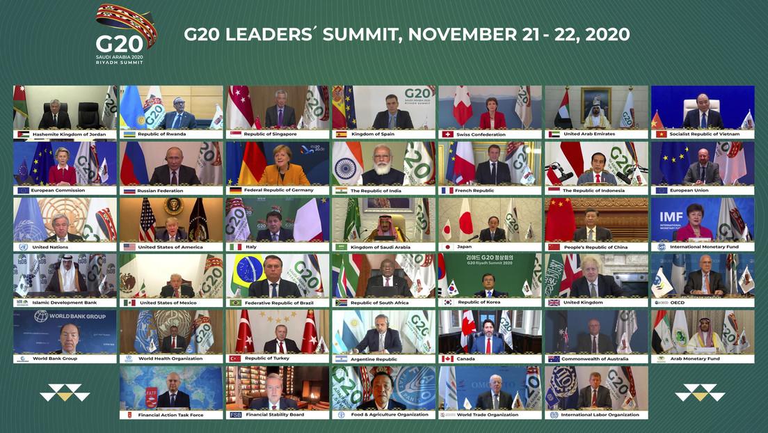 El G20 promete apoyar a los países más vulnerables a superar las consecuencias negativas de la pandemia