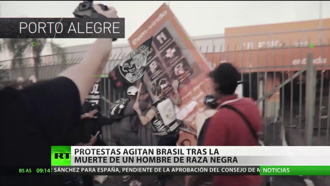 Estallan nuevas protestas antirracistas en Brasil tras el asesinato de un afroamericano a manos de dos guardias