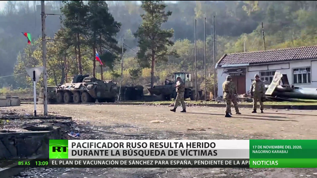 Pacificador ruso resulta herido durante la búsqueda de víctimas en Nagorno Karabaj