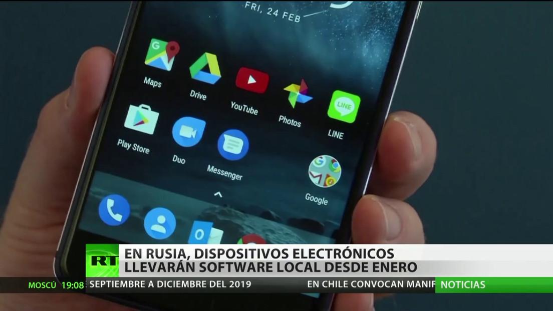 Los dispositivos electrónicos en Rusia deberán contar con un software local desde enero