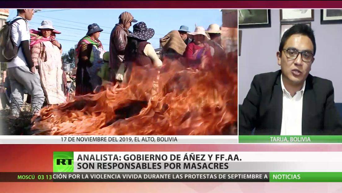 Analista: No solo el Gobierno de Áñez, sino también las Fuerzas Armadas bolivianas son responsables de las masacres durante las protestas de 2019