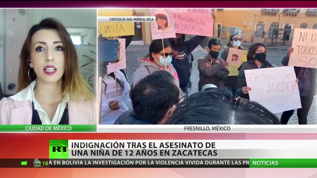 Indignación en México tras el asesinato de una niña de 12 años en el estado de Zacatecas