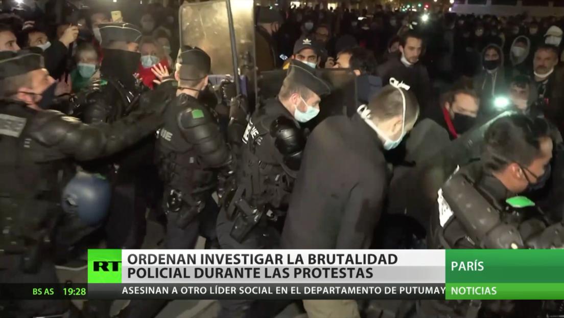 Francia ordena investigar la brutalidad policial durante protestas en el centro de París