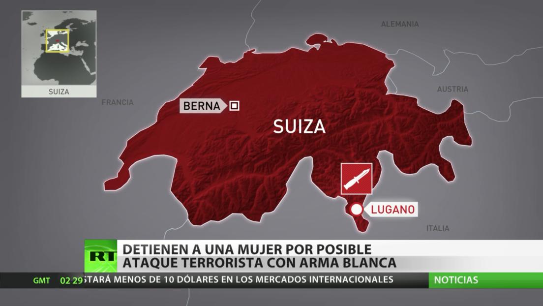 Detienen a una mujer por presunto ataque terrorista con arma blanca en el sur de Suiza