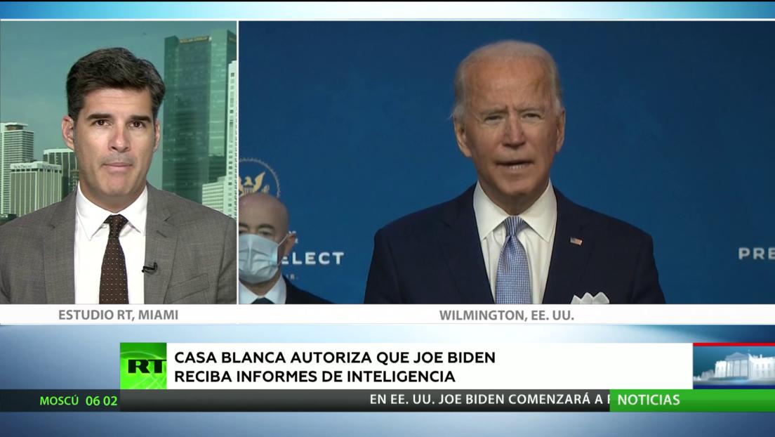 Avanza en EE.UU. el proceso de transición: la Casa Blanca autoriza que Joe Biden reciba informes de inteligencia