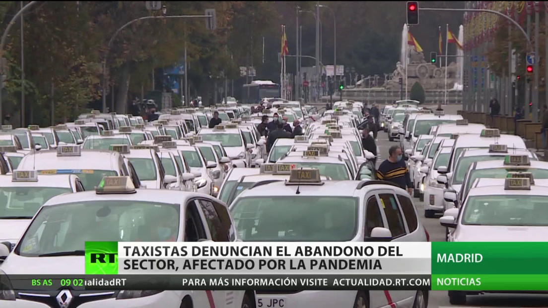 Madrid: Taxistas denuncian el abandono del sector, golpeado por la pandemia