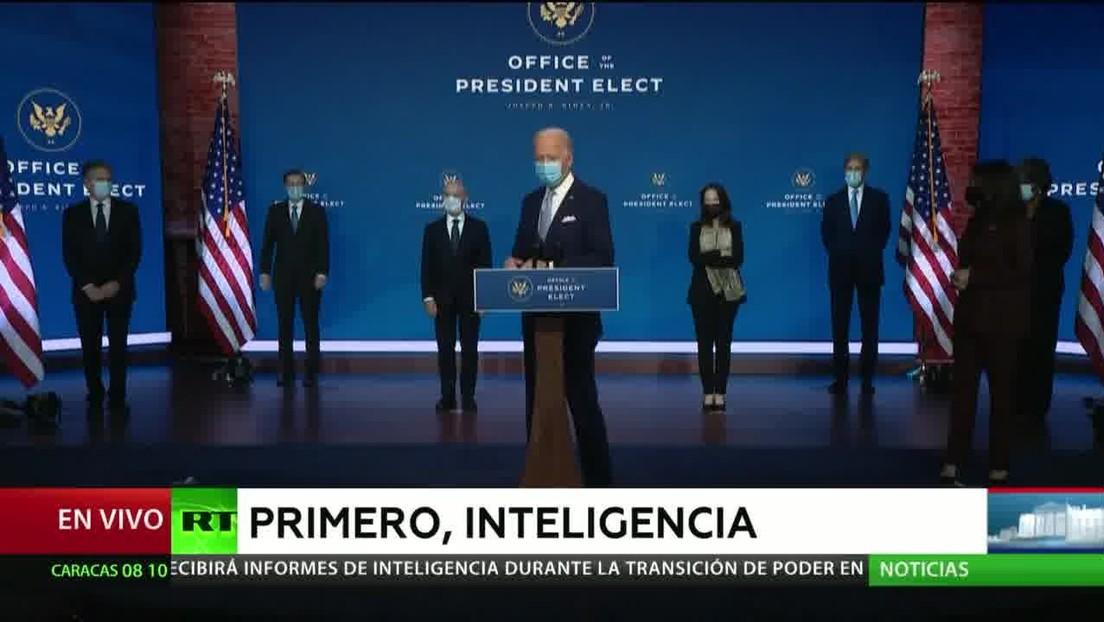 Reportan que Trump ha autorizado que Biden reciba informes de inteligencia