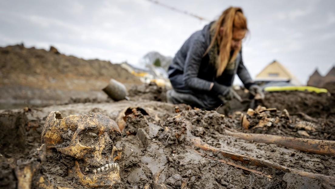 Descubren una misteriosa fosa común con 20 esqueletos medievales en Países Bajos (FOTOS)