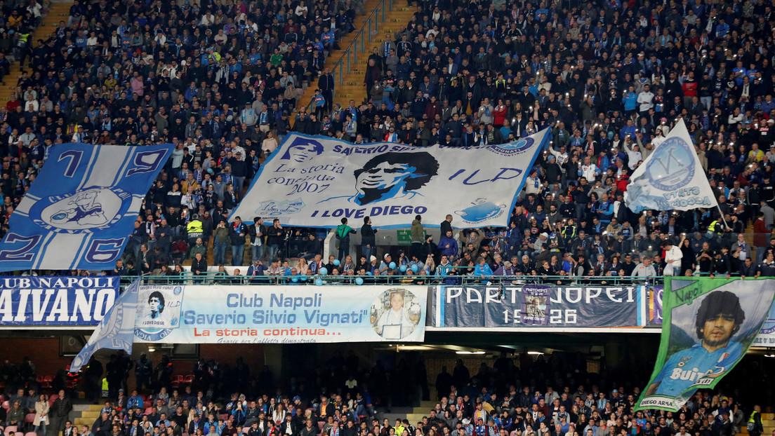El alcalde de Nápoles anuncia que el estadio San Paolo se llamará Diego  Armando Maradona en honor al máximo ídolo argentino - RT
