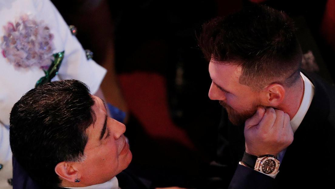 """""""Nos deja pero no se va, porque el Diego es eterno"""": Messi se despide de Maradona"""