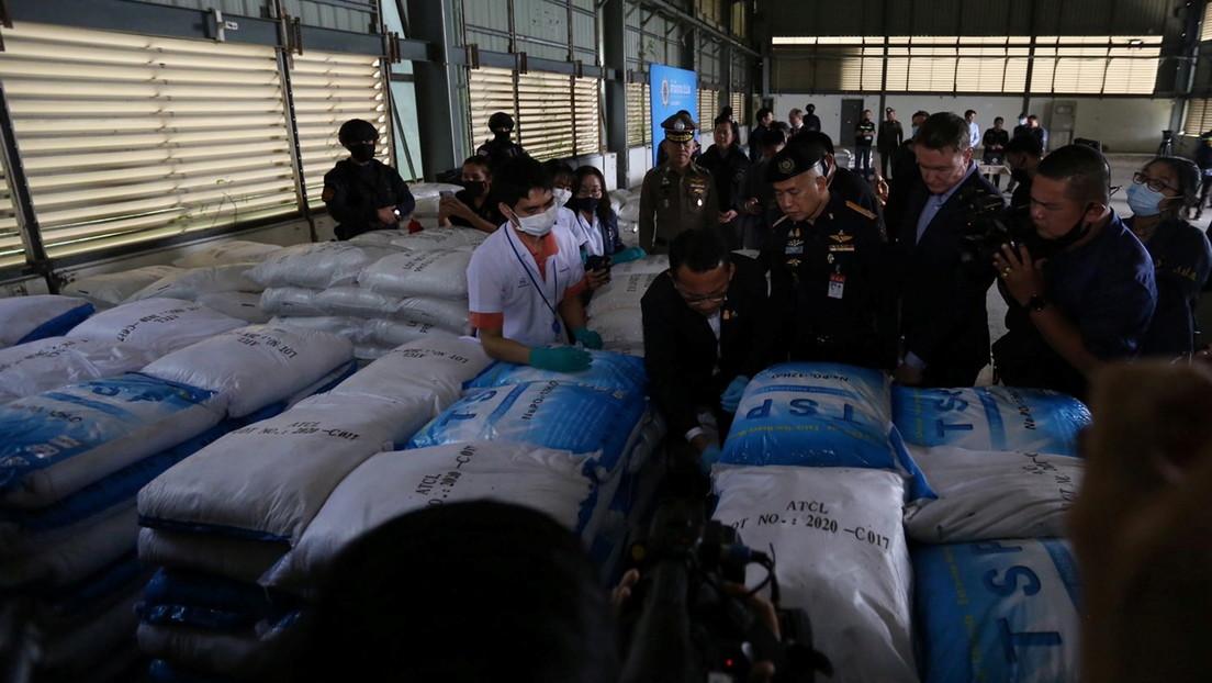 Un supuesto alijo de ketamina incautado en Tailandia y valorado en 1.000 millones de dólares resulta ser un producto de limpieza