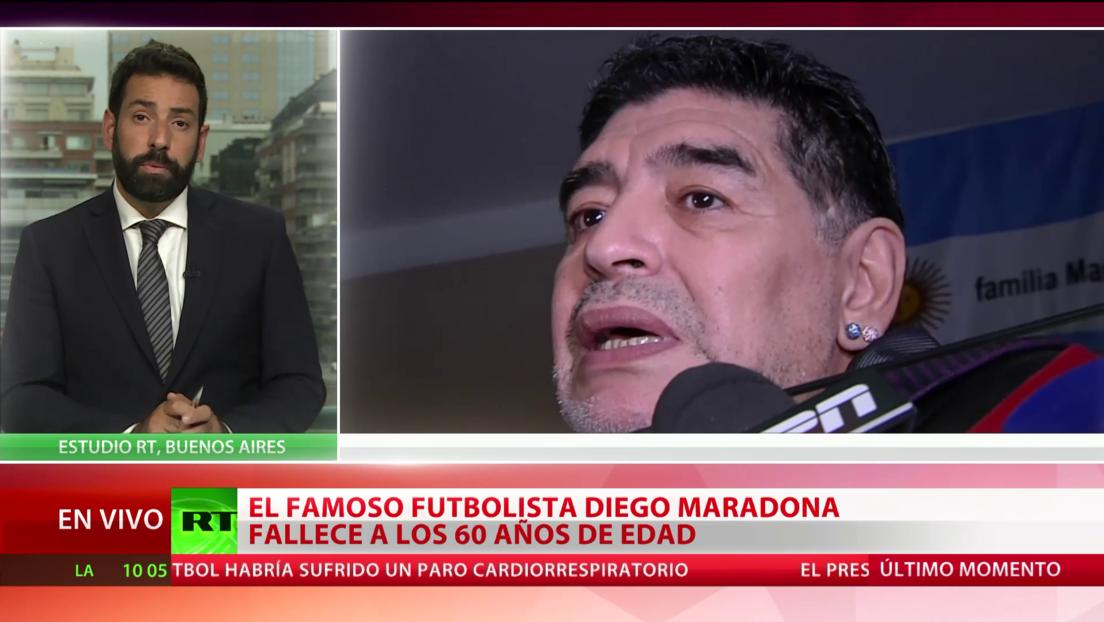 El mundo se estremece por la muerte de la estrella del fútbol, Diego Armando Maradona