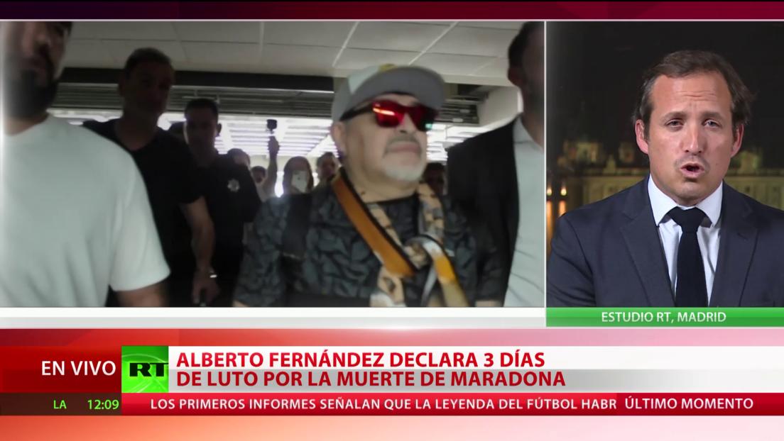La muerte de Maradona conmociona España, país donde jugó varios años