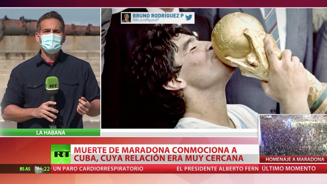 La muerte de Diego Maradona conmociona a Cuba, con la que tuvo una relación muy cercana