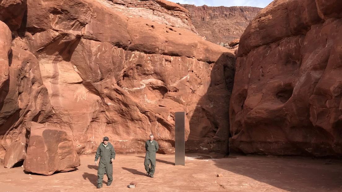 """Más pistas para resolver el misterio: un artista muerto podría ser quien inspiró el """"extraño"""" monolito del desierto de Utah"""