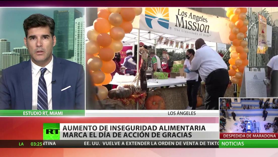 El aumento de la inseguridad alimentaria en EE.UU. marca el Día de Acción de Gracias