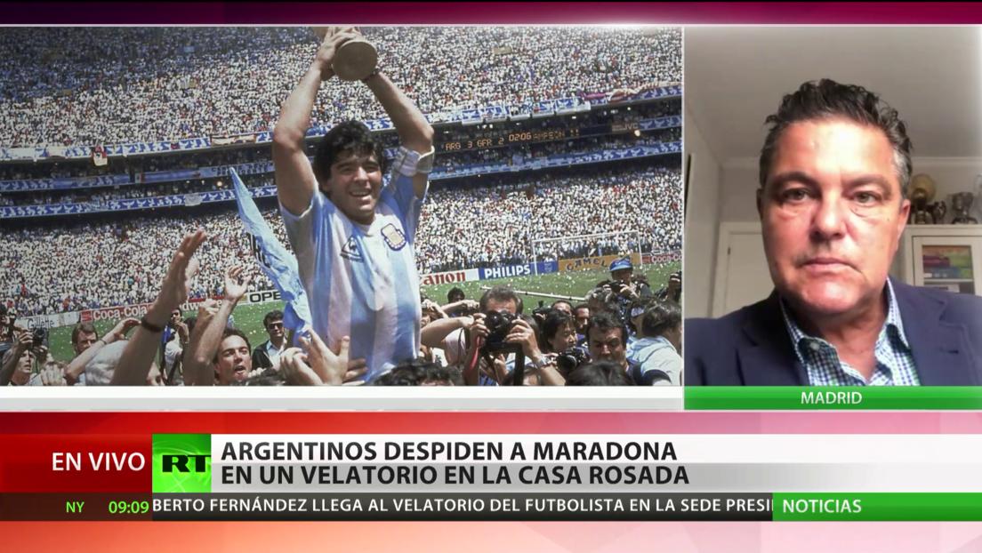 Exdirectivo del Real Madrid: Maradona fue un genio del fútbol con el talento de Messi y el espíritu de Cristiano Ronaldo